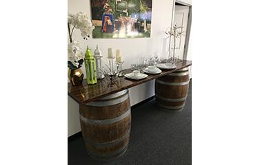 Whiskey Wine Barrel Bar