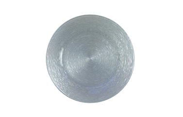 Chargers- Glass (Silver Swirl, Clear