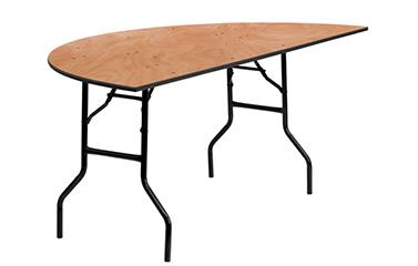Half Circle Wood Table